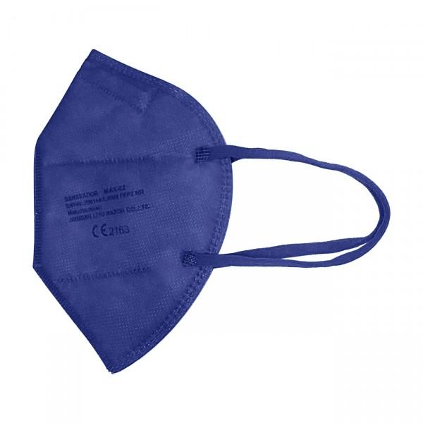 FFP2 - medisch mondmasker (doos met 20 stuks) - kleur: marineblauw