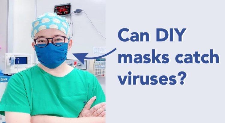Kunnen zelfgemaakte maskers virussen vangen?